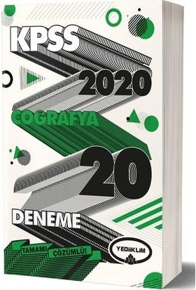 Yediiklim Yayınları 2020 KPSS Genel Kültür Coğrafya Tamamı Çözümlü 20 Deneme