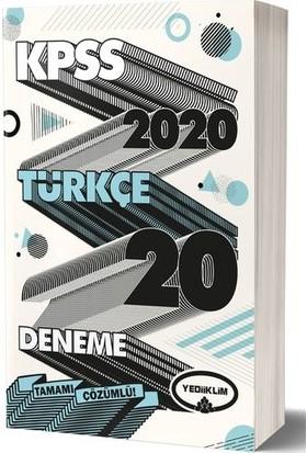 2020 Kpss Genel Yetenek Türkçe Tamamı Çözümlü 20 Deneme