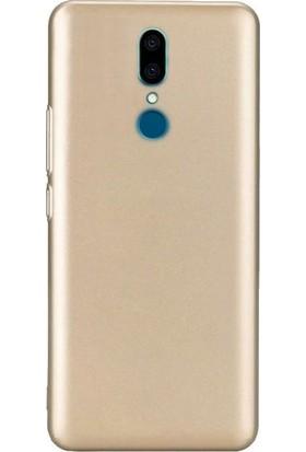 Tbkcase Vestel Venus V7 Lüks Silikon Kılıf Gold + Nano Ekran Koruyucu
