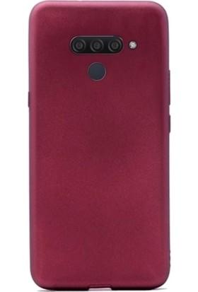 Tbkcase LG Q60 Kılıf Lüks Mat Silikon Bodro + Tam Kapatan Nano Ekran Koruyucu