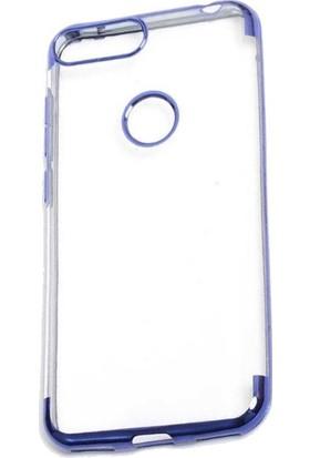 Tbkcase Alcatel 1S Kılıf Lazer Silikon Mavi