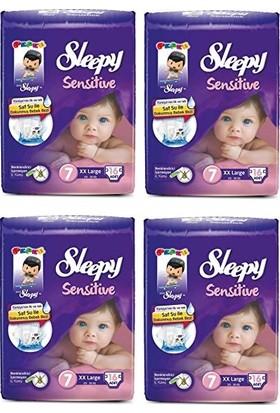 Sleepy Sensitive 7 Numara XXL 16'lı x 4 Paket 64 Adet Bebek Bezi