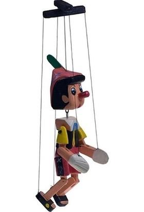 Gökçe Doğal Ahşap Pinokyo Kukla Ipli Büyük Boy 33 cm