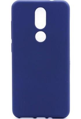 Kaltel Gsm Casper Via A2 Mat Premier Silikon Kılıf + Tam Koruma Full Kaplayan Ekran Koruyucu - Lacivert
