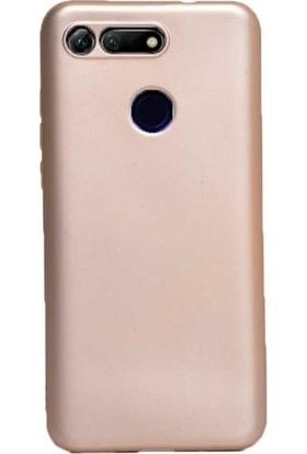 Kaltel Gsm Huawei Honor View 20 Mat Premier Silikon Kılıf + Tam Koruma Full Kaplayan Ekran Koruyucu - Gold