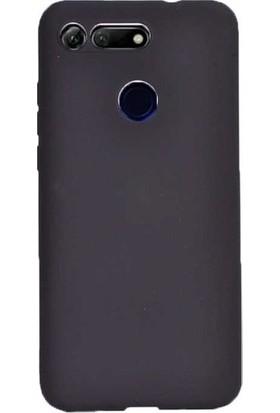 Kaltel Gsm Huawei Honor View 20 Mat Premier Silikon Kılıf + Tam Koruma Full Kaplayan Ekran Koruyucu - Siyah