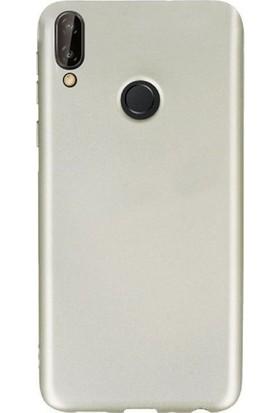 Kaltel Gsm Samsung Galaxy A20e Mat Premier Silikon Kılıf + Tam Koruma Full Kaplayan Ekran Koruyucu - Gold