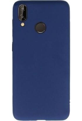 Kaltel Gsm Samsung Galaxy A20e Mat Premier Silikon Kılıf + Tam Koruma Full Kaplayan Ekran Koruyucu - Lacivert