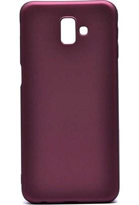 Kaltel Gsm Samsung Galaxy J6 Mat Premier Silikon Kılıf + Tam Koruma Full Kaplayan Ekran Koruyucu - Mürdüm