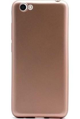 Kaltel Gsm Vestel Venüs E2 Mat Premier Silikon Kılıf + Tam Koruma Full Kaplayan Ekran Koruyucu - Gold