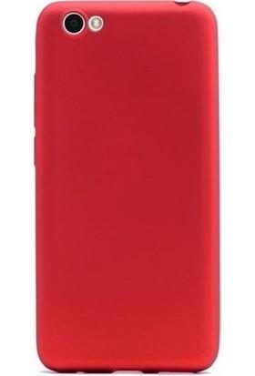Kaltel Gsm Vestel Venüs E2 Mat Premier Silikon Kılıf + Tam Koruma Full Kaplayan Ekran Koruyucu - Kırmızı