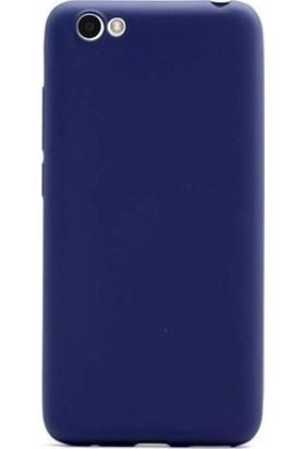 Kaltel Gsm Vestel Venüs E2 Mat Premier Silikon Kılıf + Tam Koruma Full Kaplayan Ekran Koruyucu - Lacivert