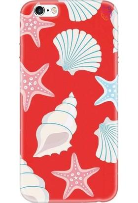 Wolf Dizayn Apple iPhone 6/6S Plus Kırmızı Silikon Kılıf - Sea Shell