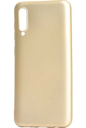 Tbkcase Meizu 16XS Kılıf Lüks Silikon + Nano Ekran Koruyucu Gold