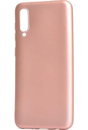 Tbkcase Meizu 16XS Kılıf Lüks Silikon + Nano Ekran Koruyucu Rose Gold