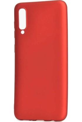 Tbkcase Meizu 16XS Kılıf Lüks Silikon + Nano Ekran Koruyucu Kırmızı