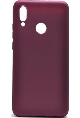 Tbkcase Meizu Note 9 Kılıf Lüks Silikon Bordo