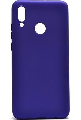 Tbkcase Meizu Note 9 Kılıf Lüks Silikon Lacivert