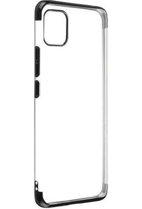 Tbkcase Apple iPhone 11 Pro Max Kılıf Lüks Lazer Silikon + Nano Ekran Koruyucu Siyah