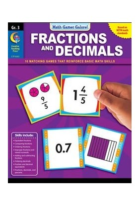 Fractions&decimals Gr.3-Math Games Galore