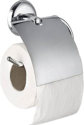 Aksesuaros Altez Kapaklı Tuvalet Kağıtlığı Krom