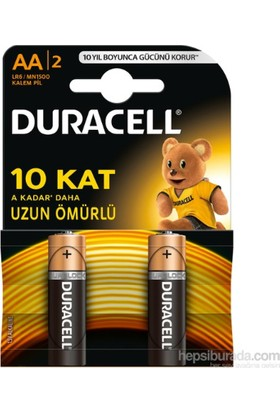 Duracell Alkalin AA Kalem Pil 2'li Paket
