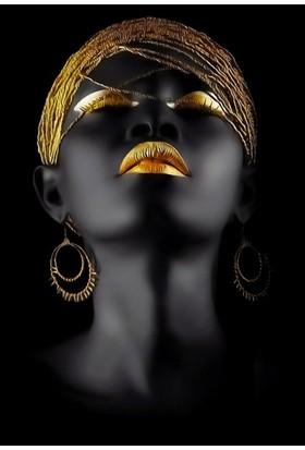 Hepsi Home Afrikalı Kadın Temalı Dekoratif Kanvas Tablo 50*70 Cm