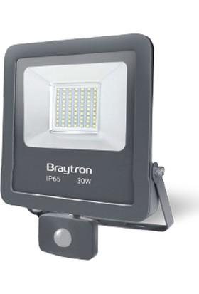 Braytron Sensörlü LED Projektör 30 W 6500K Beyaz Işık BRAYTRON-BT61-23032