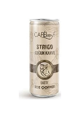 Cafekeyf Strigo Soğuk Kahve Latte 250 ml Slim Kutu