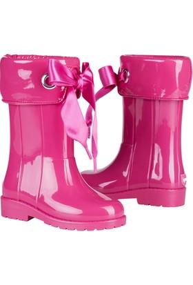 İgor W10114 Campera Charol Kız Çocuk Su Geçirmez Yağmur Kar Çizmesi Pembe