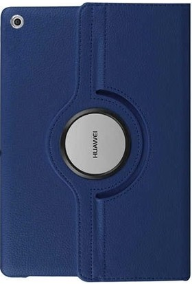 """Tbkcase Huawei MediaPad T3 10"""" 360 Dönerli Standlı Kılıf Lacivert + Nano Ekran Koruyucu"""