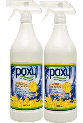 Poxy Limonlu Yağ Çözücü 1000 ml 2'li Set