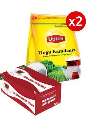 Lipton Doğu Karadeniz Demlik Poşet Çay 100'lü x 2 Adet + Şeker