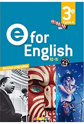 E For English 3eme