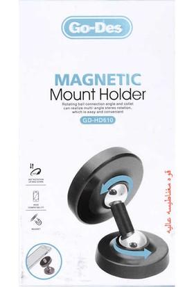 Go-Des GD-HD610 Magnetic Araç Içi Telefon Tutucu Siyah