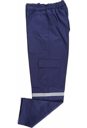 İlkiş Gabardin Kışlık Reflektörlü Lacivert İş Pantolonu