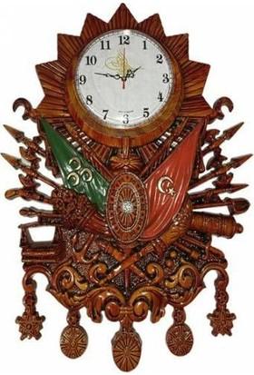 Zirve Hediyelik Osmanlı Devlet Arması Duvar Saati