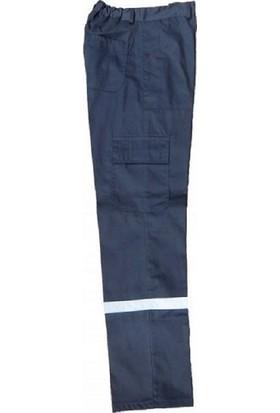 İlkiş Gabardin Kışlık Reflektörlü Gri İş Pantolonu