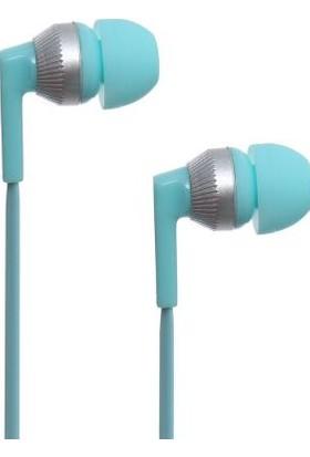 Pell Kablolu Kulak İçi Kulaklık - Mavi