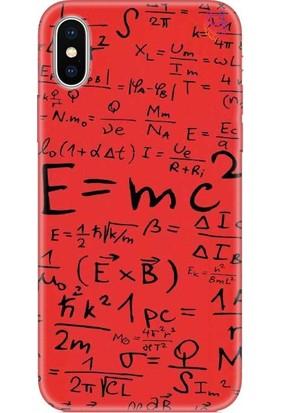 Wolf Dizayn Apple iPhone XS Max Silikon Kılıf Mc2 Black Kırmızı
