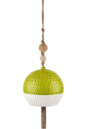 The Mia Dekor - Çan 12 cm Yeşil