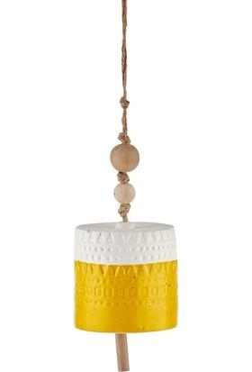 The Mia Dekor - Çan 11 cm Sarı