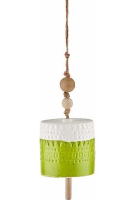 The Mia Dekor - Çan 11 cm Yeşil
