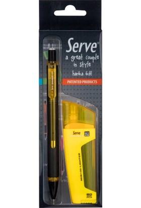 Serve Fosforlu Kalem & Shake It Mekanik Kurşun Kalem 0.7 Sarı