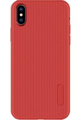 CoverZone Xiaomi Redmi Note 8 Silikon Kılıf + Nano Glass + Dokunmatik Kalem Kırmızı