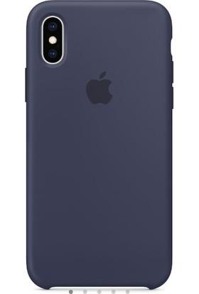Deer Case Apple iPhone XS MAX Silikon Kılıf Lacivert