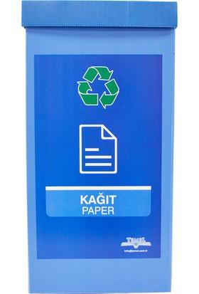 Temel Geri Dönüşüm Kutusu Sıfır Atık Kutusu Mavi Kağıt