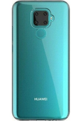 Tbkcase Huawei Mate 30 Lite Kılıf Lüks Korumalı Silikon Şeffaf + Tam Kapatan Nano Ekran Koruyucu