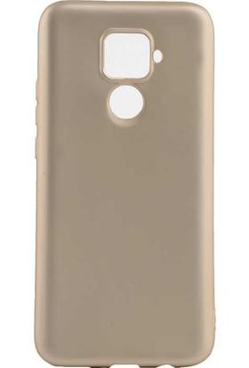 Tbkcase Huawei Mate 30 Lite Kılıf Lüks Mat Korumalı Silikon Gold + Nano Ekran Koruyucu