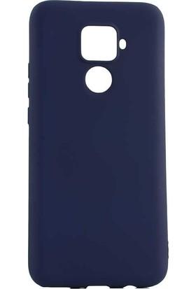 Tbkcase Huawei Mate 30 Lite Kılıf Lüks Mat Korumalı Silikon Lacivert + Nano Ekran Koruyucu
